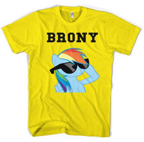Unisexe brony Arc-en-My Little Pony T Shirt toutes tailles tous coloris