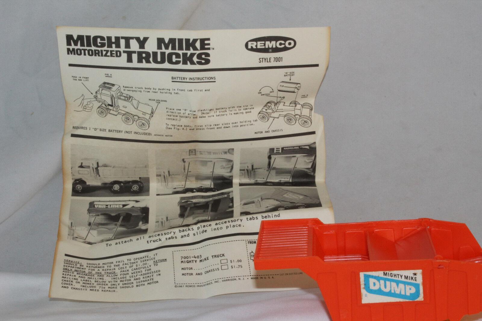 597ms Remco a Batteria Might Might Might Mike Camion Autoribaltabile Corpo Posteriore, 11036e