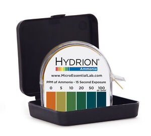 Hydrion (AM-40) Ammonia Test Paper - 0-5-10-20-50-1<wbr/>00ppm Tests ammonia in air.