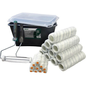 Professional-23-Piece-Trade-Scuttle-amp-Roller-Set-9-039-039-Painting-Kit-with-3-brushes