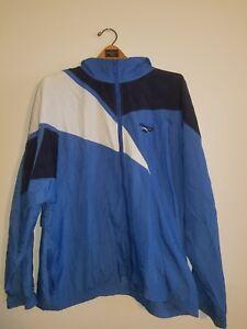 2836c23b95364 Details about Vintage Reebok Windbreaker Full Zip Pullover Hidden Hoodie  Size Large L Jacket