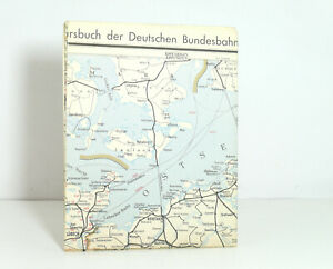 Outline Map Of Country to The Offical DB Railway Guide Nordwestdeutschland 1958