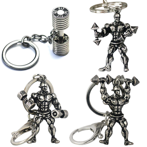 Fitness Weightlifting Muscle Gym Olympics dumbell Key ring Key Chain Metal Gift