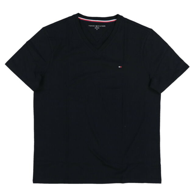 c1b17c2f4 Tommy Hilfiger Shirt Mens V-neck Tee Nantucket Classic Fit Flag Logo  Regular 2xl Black. About this product. Picture 1 of 2; Picture 2 of 2.  Picture 2 of 2