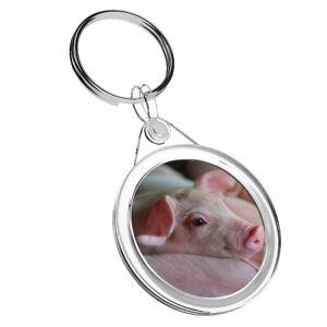 1 X Mignon Rose Porcelet Animal De Ferme-porte-clés Ir02 Maman Papa Cadeau D'anniversaire #8822 Brillant En Couleur