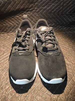 New Nike Air Max Tavas Leather Suede Black Size 11 888410119419 | eBay