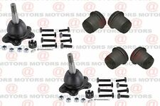 For GMC K2500 1989-2000 Front Lh & Rh Control Arm Bushings Kit Upper Ball Joints