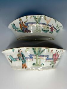 BEAUTIFUL-SIMULAR-PAIR-CHINESE-QING-PERIOD-FAMILLE-ROSE-ANTIQUE-BOWLS