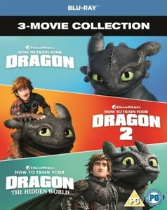 Nuovo How To Treno Your Dragon 1 A 3 Blu-Ray (8318615)