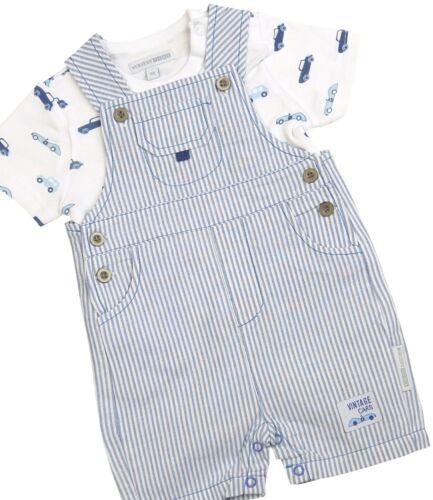 Babyprem Jungen Babykleider 2 Stück Outfit/' Autos /'T-Shirt /& Latzhose Set NB-6m