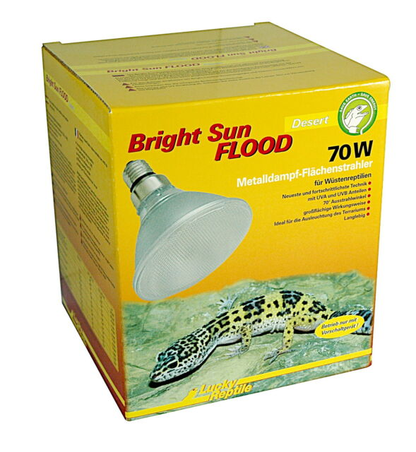 Lucky Reptile Bright Sun UV Desert FLOOD - 70 Watt NEU
