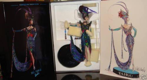 Bob Mackie Tango Barbie nunca quitado de la Caja de diseñador Hermoso