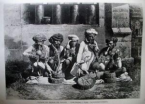 INDE-BOMBAY-CHARMEURS-DE-SERPENTS-TOURS-EGLISE-SAINT-MARTIN-TOULON-GRAVURES-1875