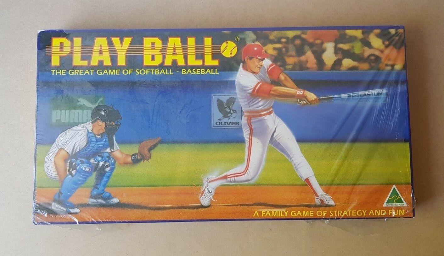 New Sealed - Vintage 1991 Play Ball Board Game Baseball Softball Sports Bat Ball