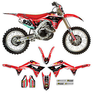 2017 Honda Crf 450 Team Carglass Dirt Bike Graphics Kit Motocross
