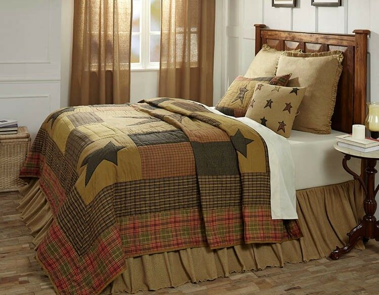 Stratton Patchwork Star Twin Quilt by VHC Brands