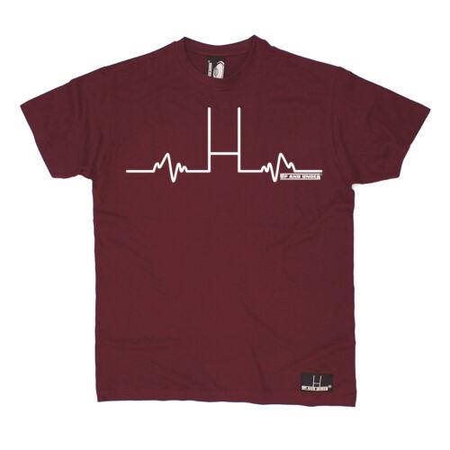 Rugby Heartbeat Pulse T-SHIRT Live Love Rugga Heart Beat Funny birthday gift