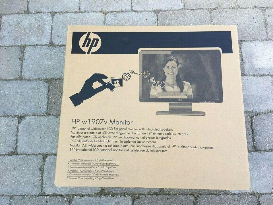 HP, fladskærm, w1907v
