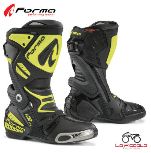 FORV220 Boots Yellow Forma Ice Road Pro Racing Driving Track Motorcycle Size 47