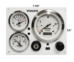 Volvo       penta    3 gauges Engine Marine    instrument       Panel    B type 681920804789   eBay