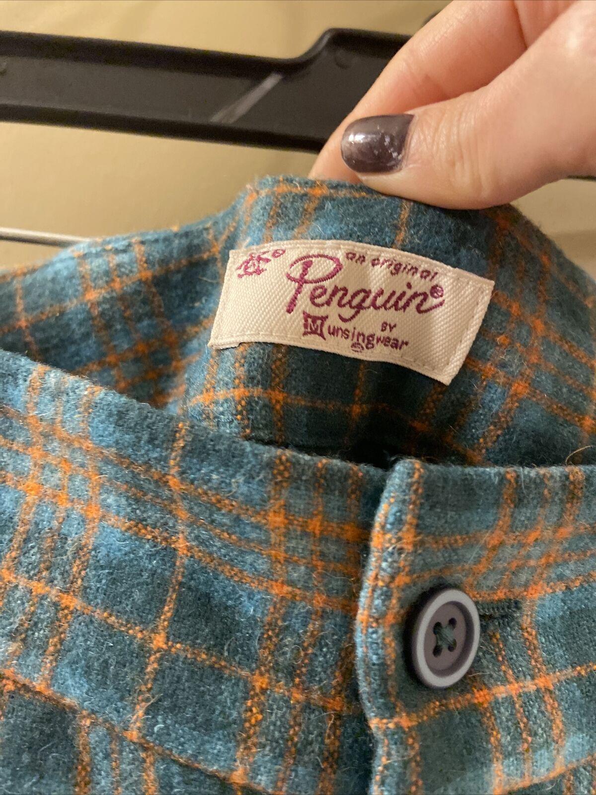 Penguin Wool Green Plaid Pants Sz 0 (item 9.8) - image 5