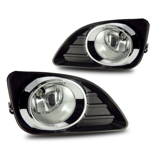 For 2010-2011 Toyota Camry Clear Lens Chrome Housing Replacement Fog Light Lamp