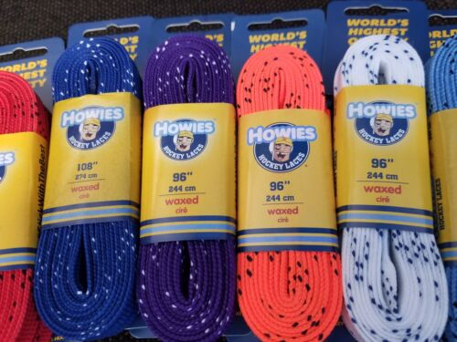 MANY SIZES AND COLORS TO CHOOSE FROM! HOWIES WAXED HOCKEY LACES BRAND NEW