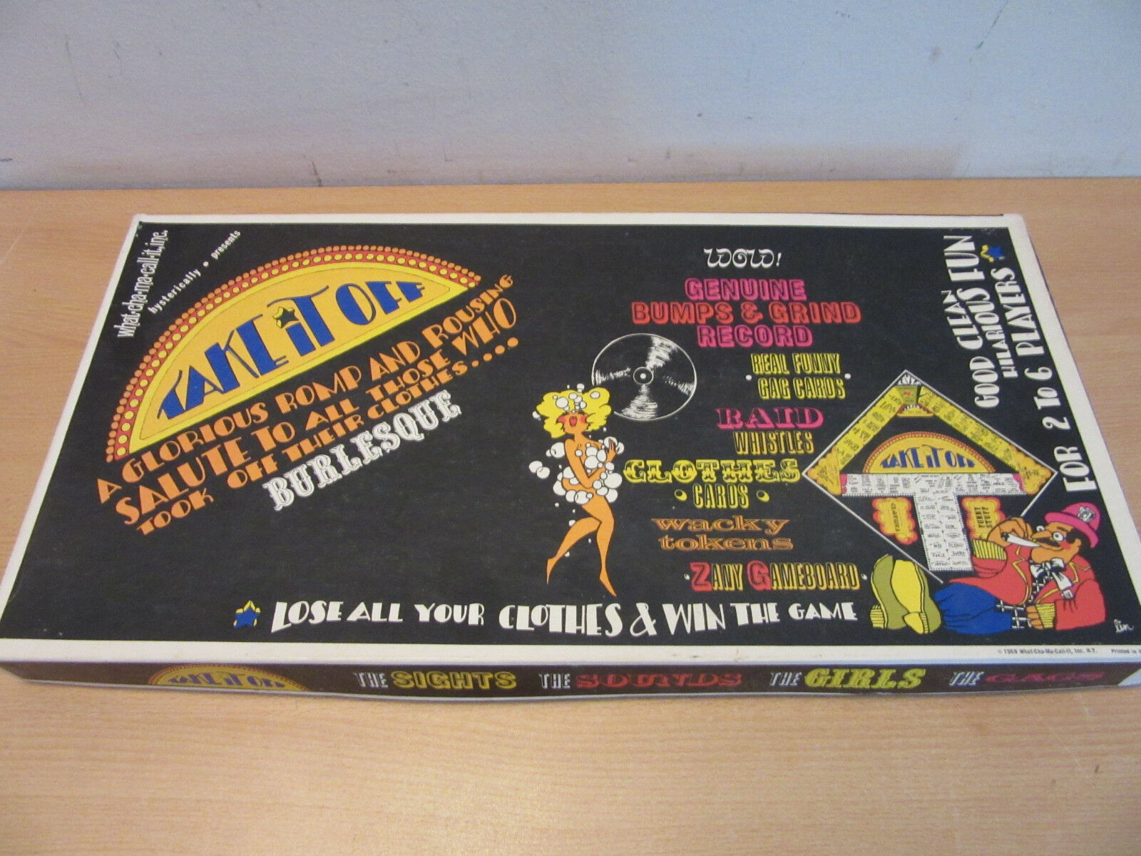 Vintage 1969  Take it Off  What-Cha-Ma-Call-It Inc, Adult stripping board game