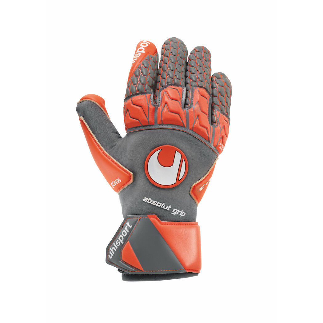 Uhlsport Aerored Absolut Grip Reflex Torwarthandschuhe grey red white [101105602]