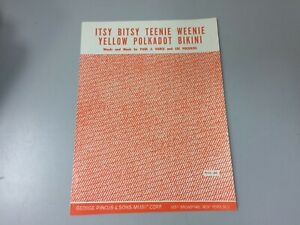 """itsy Bitsy Teenie Weenie Yellow Polkadot Bikini"" Sheet Music-afficher Le Titre D'origine"