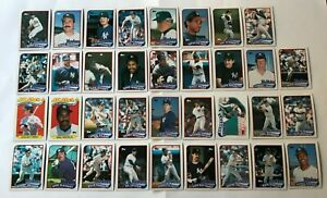 1989-NEW-YORK-YANKEES-Topps-COMPLETE-Baseball-Team-SET-35-Cards-MATTINGLY-GUIDRY