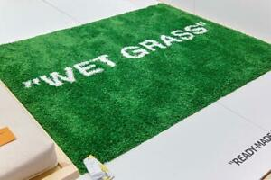 Details About Off White Ikea Virgil Abloh In Hand Wet Grass Markerad Rug