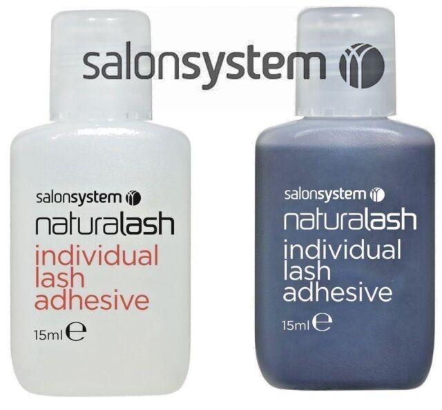 320b481093d Salon System Semi-Permanent Individual Eyelash Lash Adhesive CLEAR BLACK  Glue