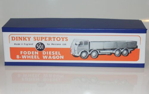 Quality Repro DINKY Reproduction Box 501 Foden Diesel  8-Wheel Wagon 1st cab
