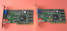 Lot of 2: ATI Rage Pro AGP 8MB Video Graphics Card PN: 109-4800-11 Dell PN 0320D