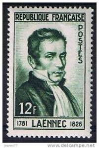 Diligent Stamp / Timbre France Neuf N° 936 ** Docteur Rene Laennec
