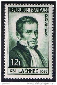 Bien éDuqué Stamp / Timbre France Neuf N° 936 ** Docteur Rene Laennec Brillant