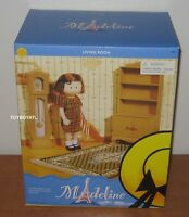 Madeline Doll House Living Room Furniture Book Case Grandfather Clock Rug