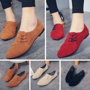 Womens-Flats-Slip-On-Ballet-Shoes-Comfort-Single-Boat-Ankle-Shoes-Loafers-Ladies