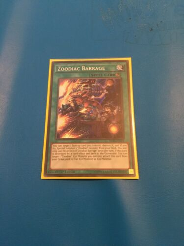 1x Secret Rare Zoodiac Barrage Mixed Sets 1st Edition