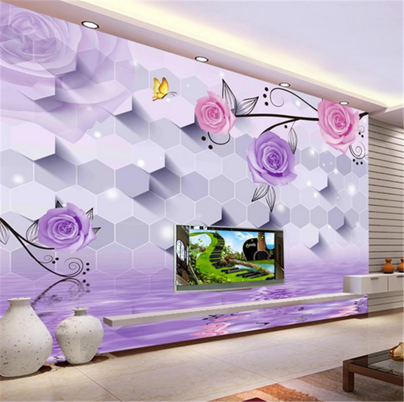 3D lila Flower Pattern 89 Wallpaper Mural Paper Wall Print Wallpaper Murals UK