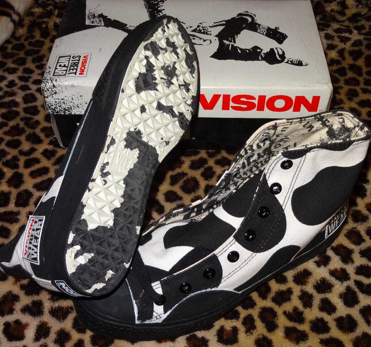 Vision Street Wear Skateboard Schuhe Moo Hi 4 UK/5 USB '80s Jahre Blte Schule
