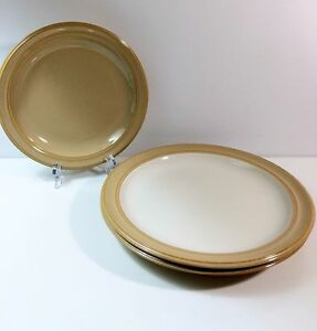 Image is loading Dansk-Sirocco-Khaki-2-Dinner-Plates-and-1- & Dansk Sirocco Khaki 2 Dinner Plates and 1 Salad Plate Tan and Off ...