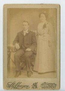 Vintage Cabinet Card May December Wedding or Mother of The Groom Brooklyn NY
