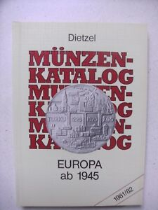 WunderschöNen Konvolut, Lot Von 3 Münzkatalogen , Dietzel,europa 1900 - 1970 S.scan