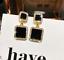 Declaración Negro Geométrico Pendientes para Dama de Lujo Cristal Pendientes de Diamantes de Imitación