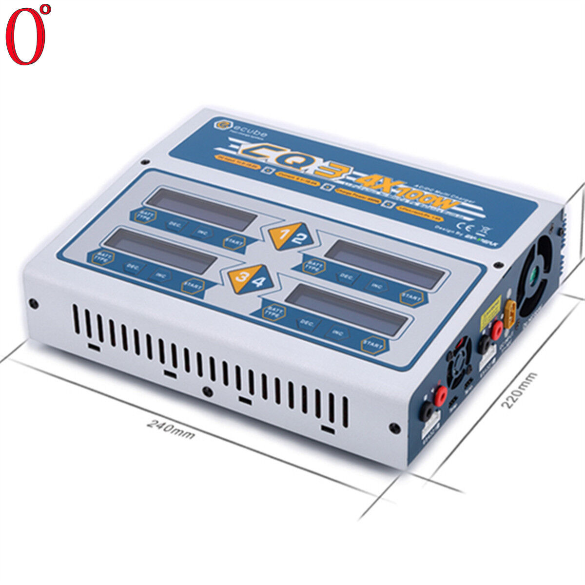 EV-PEAK  CQ3 4CH AC Input 110v -240V balance charger discharger for 1-6S Battery  a buon mercato