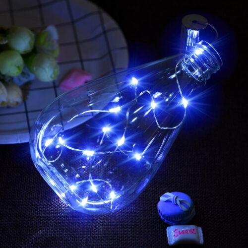 20 LED Bright Colorful Bottle Licht Kit Fairy Lights Battery Top Wedding Decorat
