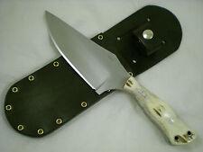 Triple-X Knives One Off Custom Big Woodsman Knife, 5160HC Steel, Elk Antler