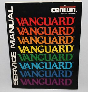 Details about Vintage Vanguard Centuri Game Operation Service Manual Repair  Parts Schematic
